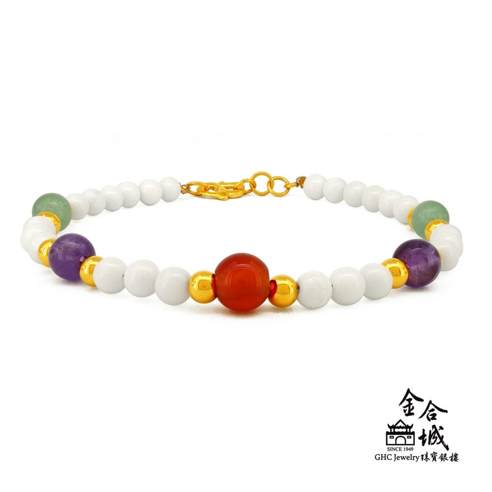 【金合城】黃金玉石手環 MPE0035(金重約0.45錢)