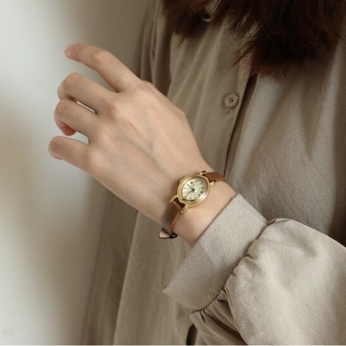 正韓國品牌 JULIUS 聚利時 橢圓皮帶石英機芯防水小巧手錶女士 JA-567 ❤現貨+預購❤