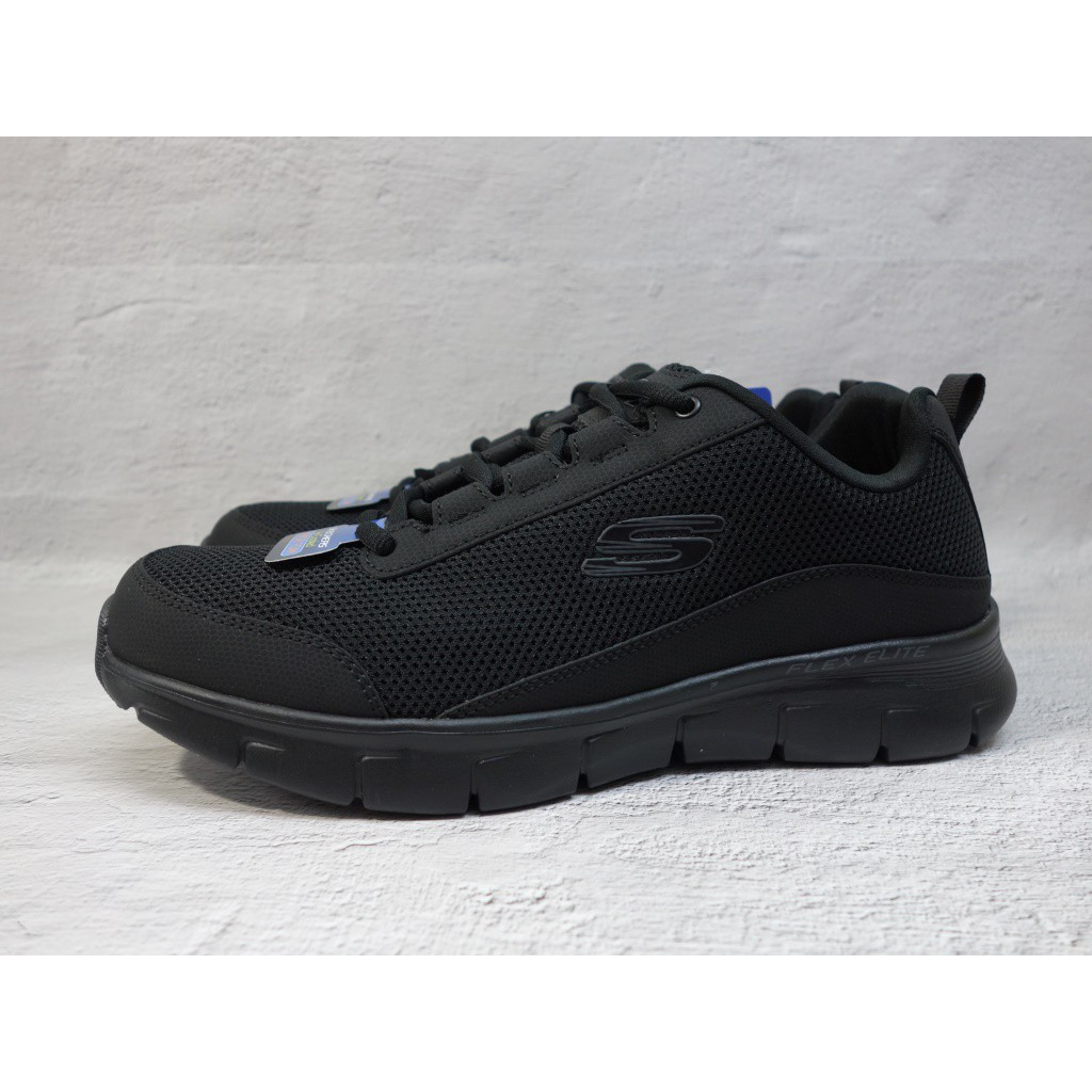 [麥修斯] SKECHERS SYNERGY 3.0 慢跑鞋 健走鞋 黑 工作鞋 男款 52585BBK