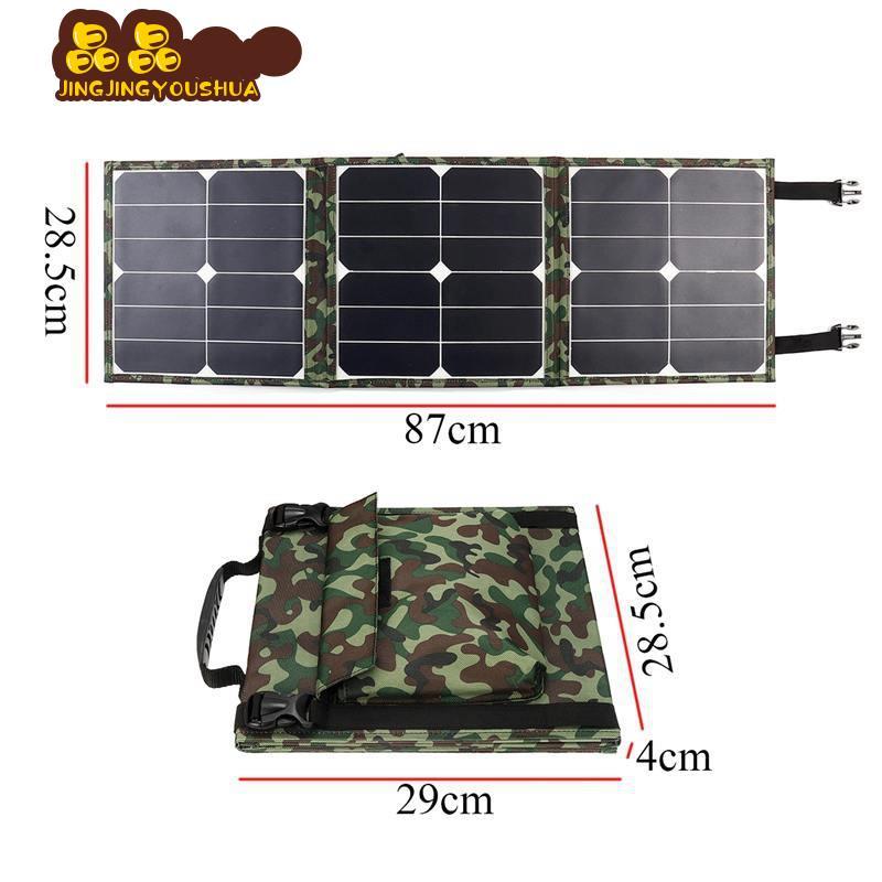 晶晶優選 SUNPOWER 晶片 100W太陽能折疊包 單晶太陽能板 戶外充電包充電電腦手機充電--寶充電器