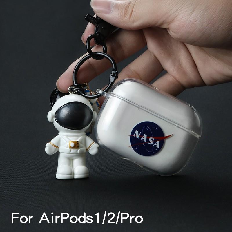 宇航員airpodspro保護套硅膠蘋果3代無線藍牙耳機盒子airpod保護殼1/2代潮透明軟殼pro可愛airpo