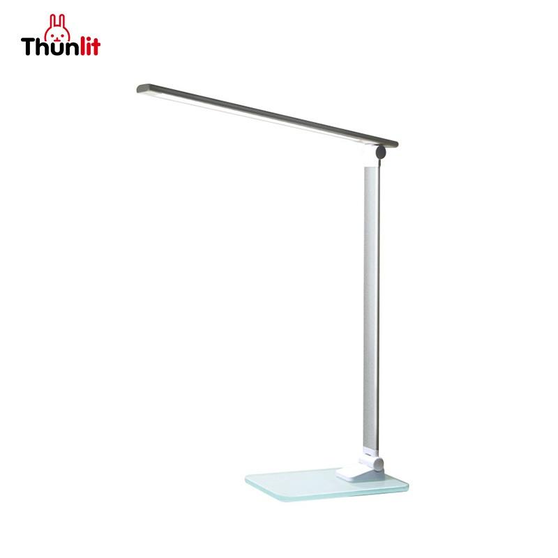Thunlit簡約書桌檯燈 護眼光源玻璃底座LED燈珠
