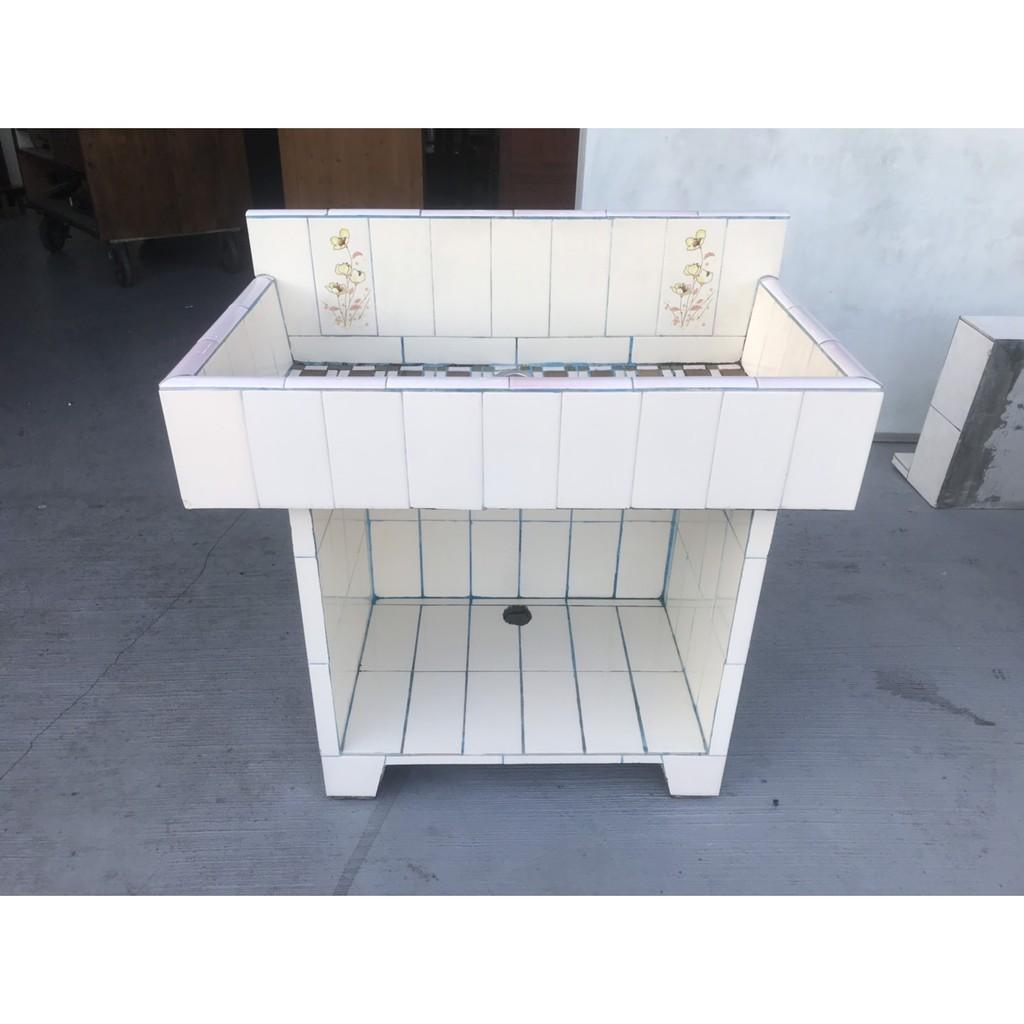 財藝二手家具~三尺流理台-水泥流理台-水泥洗手台-洗手台-清洗台-洗手槽-洗衣槽-洗碗槽-廚具-中古流理台-二手流理台
