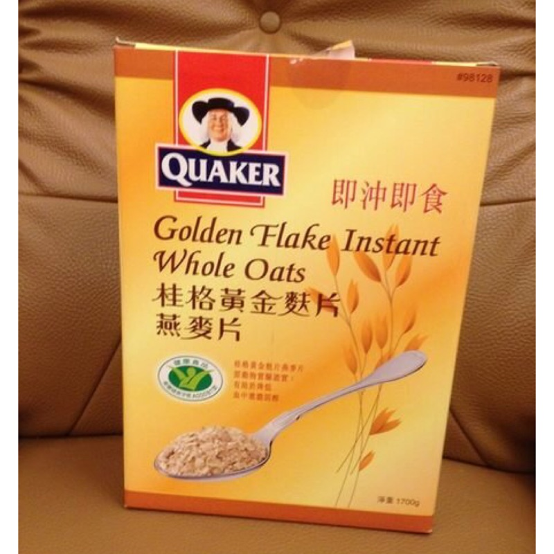 QUAKER 桂格 黃金麩片燕麥片一盒1700g    299元---可超商取貨付款