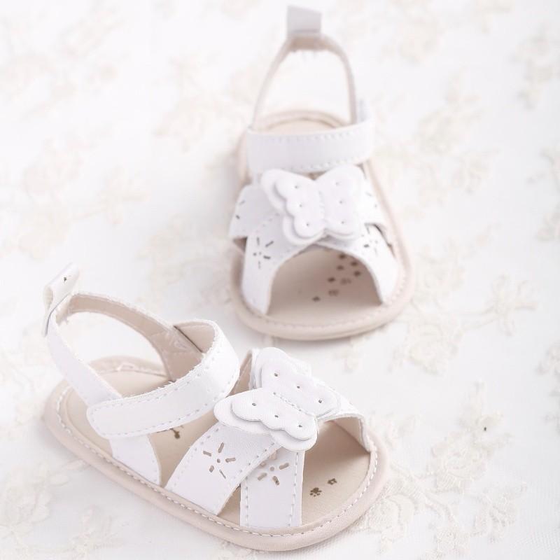 寶貝女孩可愛蝴蝶結透氣公主柔軟防滑學步涼鞋【IU貝嬰屋】