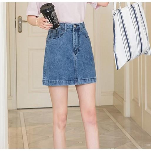 簡約牛仔短裙 #010