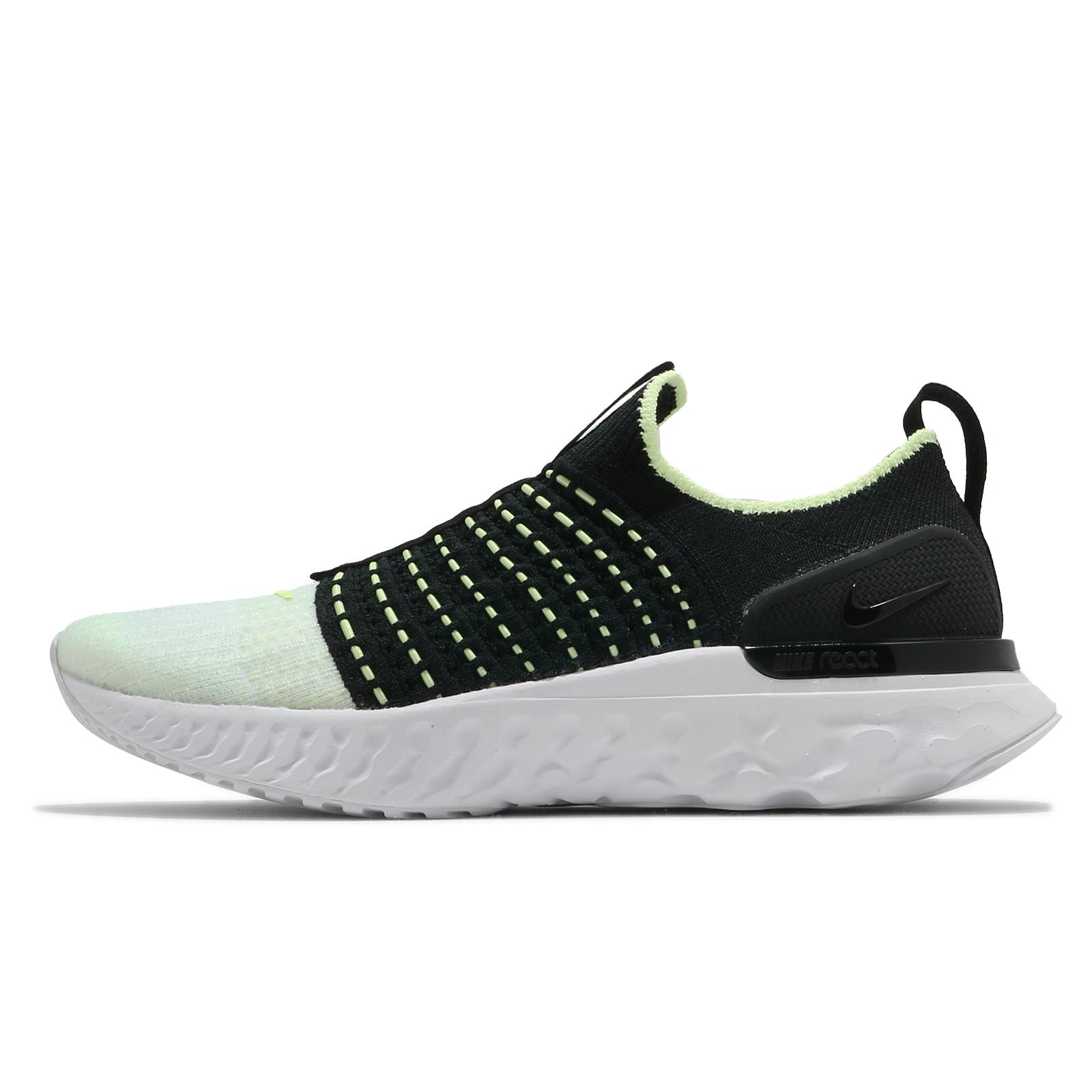 Nike 慢跑鞋 React Phantom Run FK 2 黑 綠 女鞋 運動鞋【ACS】 CJ0280-004