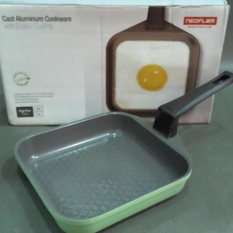 neoflam韓式方型綠色蛋捲鍋