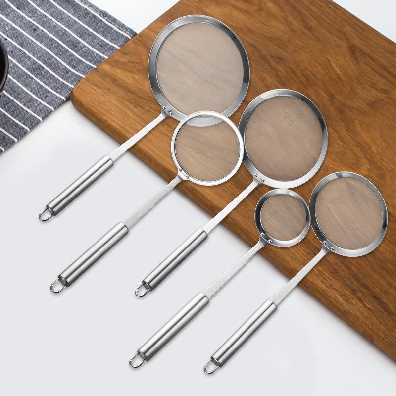 不銹鋼304油隔 長柄網漏 果汁豆漿過濾網 火鍋漏勺 撈油勺子