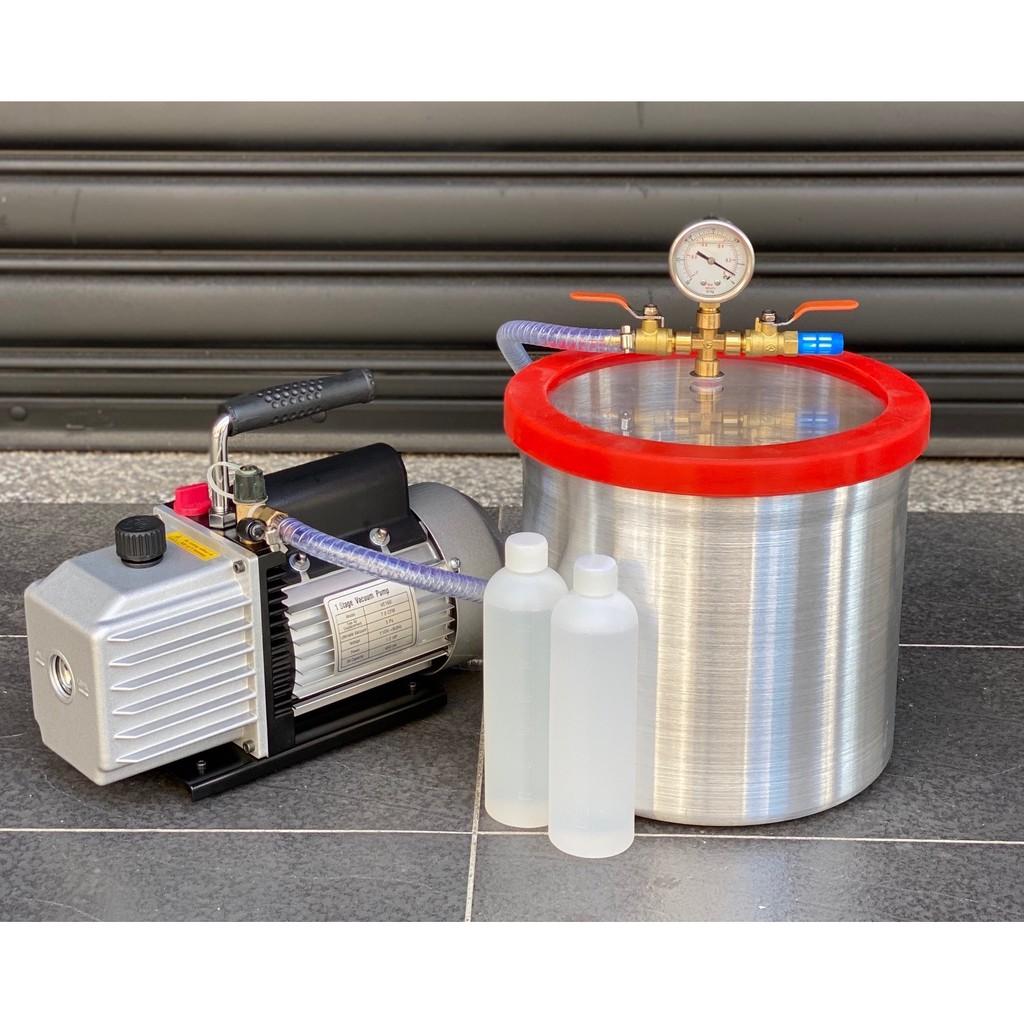 過濾器10吋型真空脫泡機( VALUE 1/2HP油式真空幫浦)--矽膠/樹脂/公仔/翻模/真空成型-各膠質類脫泡真空機