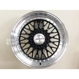 【甜甜圈】M9023 18吋10H100/ 112 黑車邊鋁圈 類BBS RS 深唇海拉風