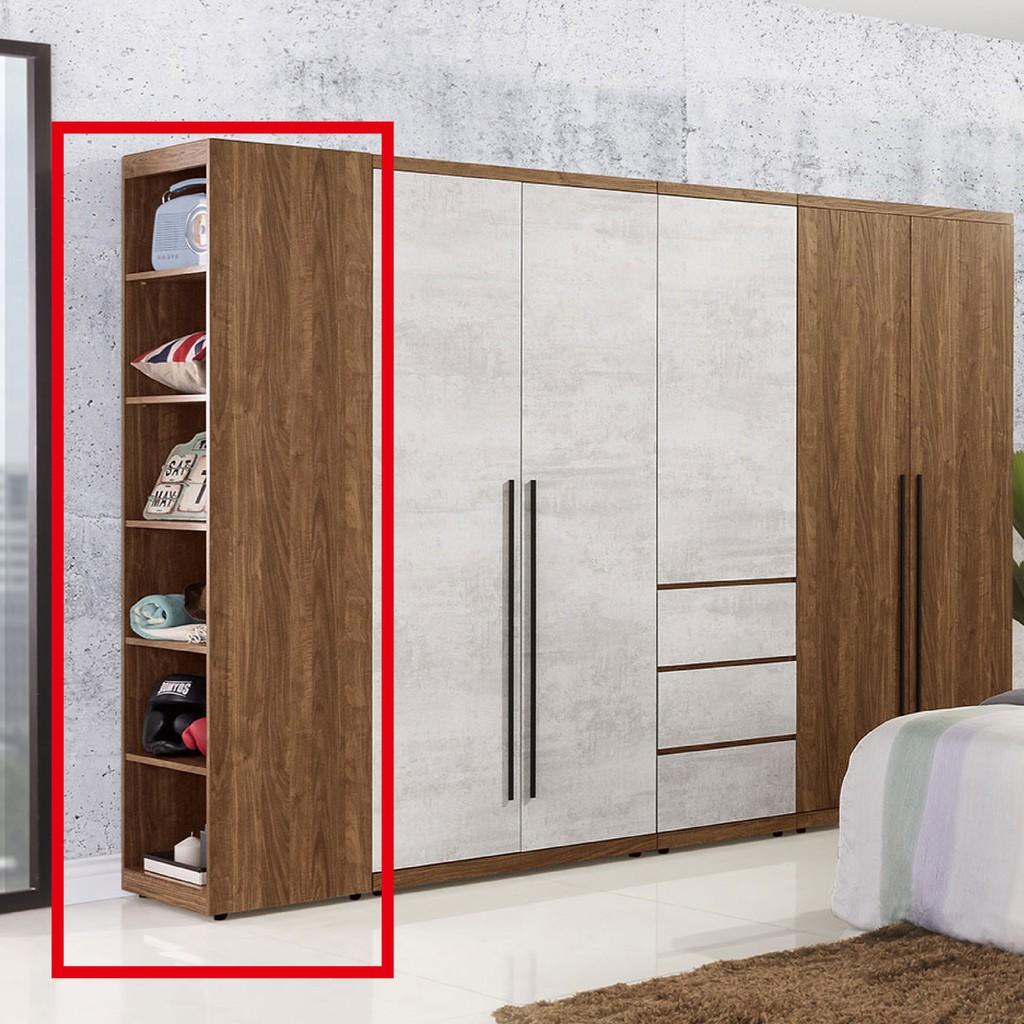【30cm開放衣櫃-A0101-3】木心板 推門滑門開門 衣服收納 免組裝 【金滿屋】
