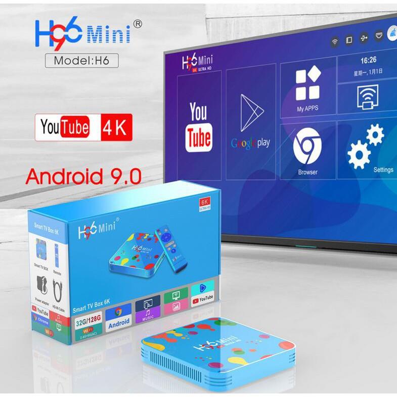 【4GB/32GB+臺灣保固】智能機頂盒 H96 mini H6 安卓9.0 高清播放器 6K TV BOX 高清電視盒
