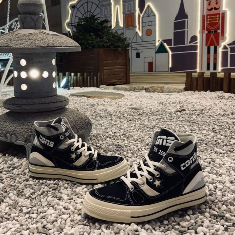 Converse Chuck 70 E260 Hi Black 黑白 星星 高幫 情侶 男女 166462C