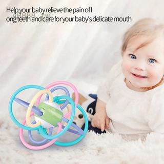新生嬰兒搖鈴牙膠寶寶玩具0-1歲磨牙咬可水煮床鈴