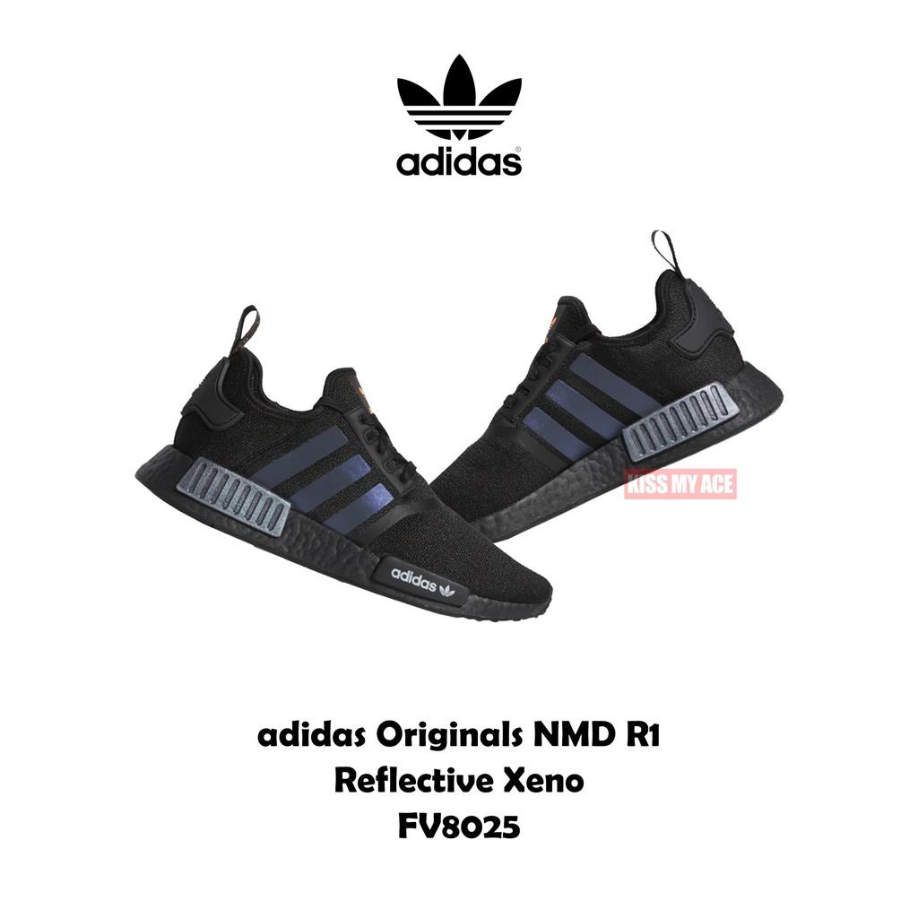 adidas Originals NMD R1 愛迪達 全黑 反光 極光 金屬黑 運動 休閒 慢跑鞋 FV8025