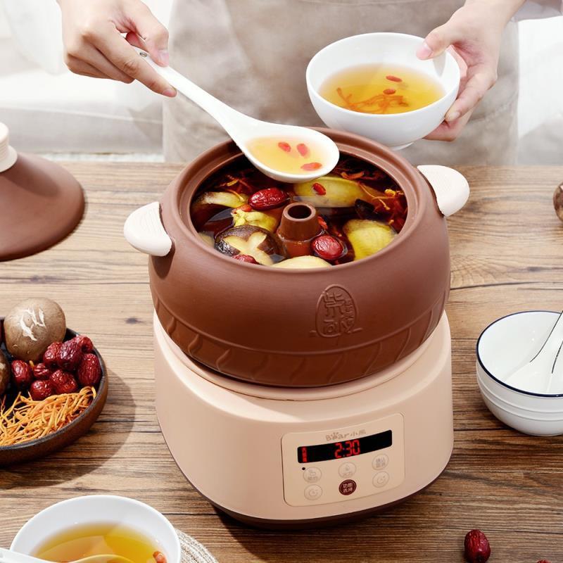 隔水燉鍋汽鍋陶瓷燉盅煲湯紫砂家用全自動養生慢燉智能小砂鍋