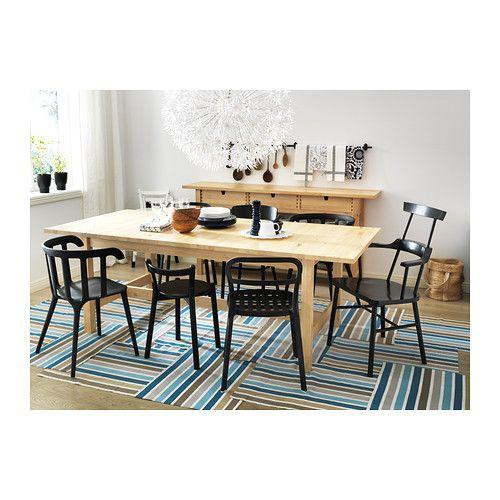絕版款/北歐IKEA宜家NORDEN延伸桌實木餐桌工作桌/缺中格板無法延伸/樺木/二手八成新/原$9990特$3800