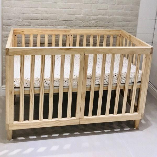 喬依思 La joie 史丹佛6合1多功能書桌嬰兒床-贈4cm床墊-原木色(120X60)【麗兒采家】【預購5月初到貨】
