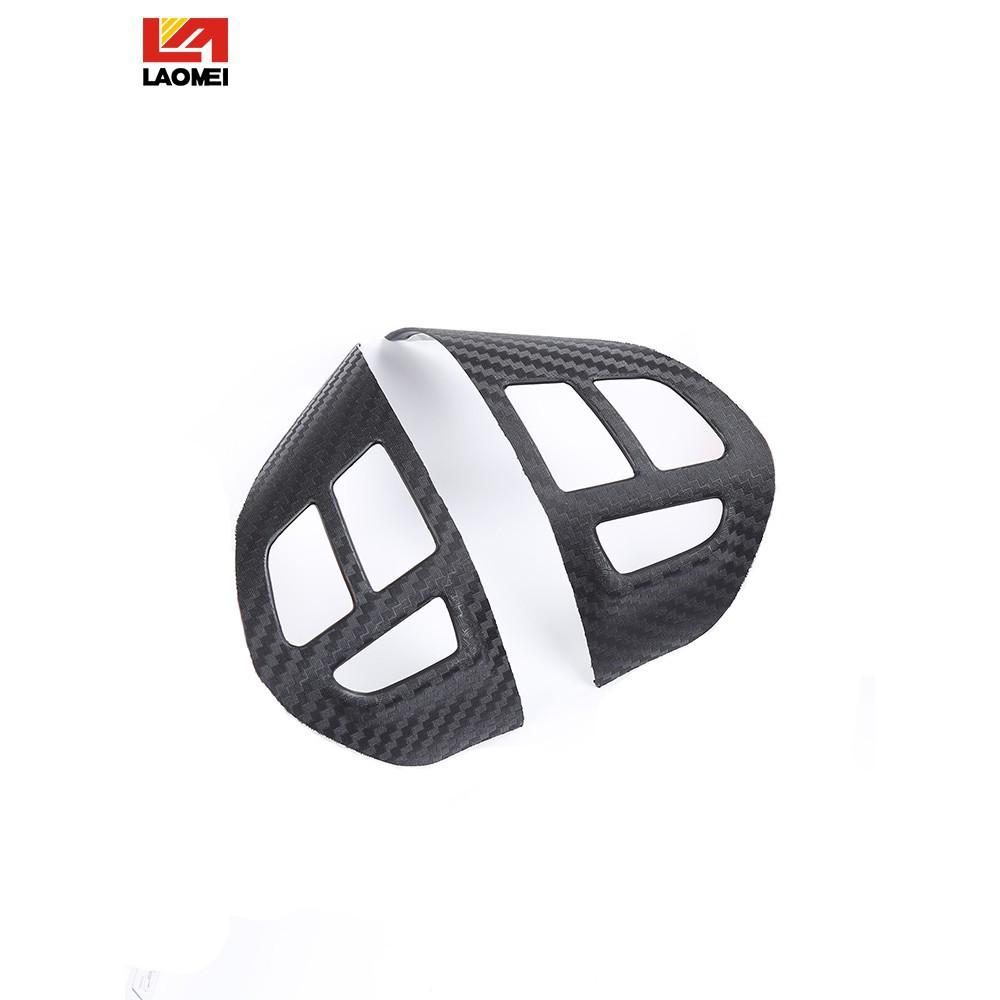 《AA優品》現貨 三菱FORTIS Outlander立體碳纖維塑料防刮貼片 方向盤音控定速商標貼紙改裝內飾貼片