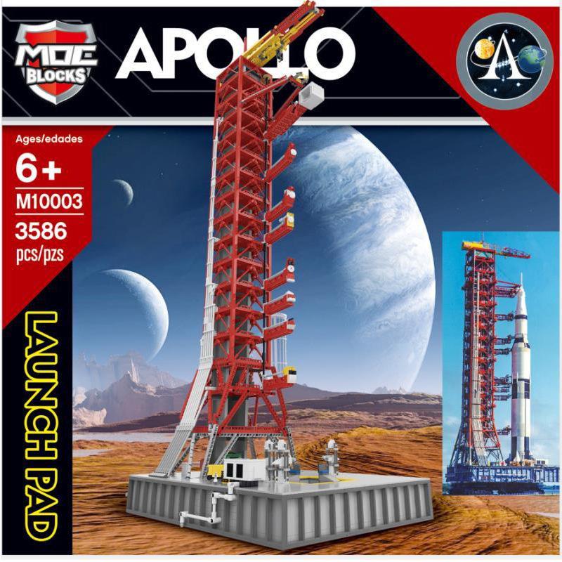 王牌 航天系列 79002 MOC改良升級版 土星5號火箭發射架 拼裝積木玩具 M10003航天系列