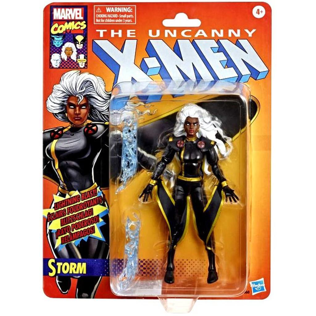 【孩之寶hasbro】MARVEL LEGENDS 復古吊卡 X-men X戰警 6吋 風暴女 暴風女 80周年 代理版