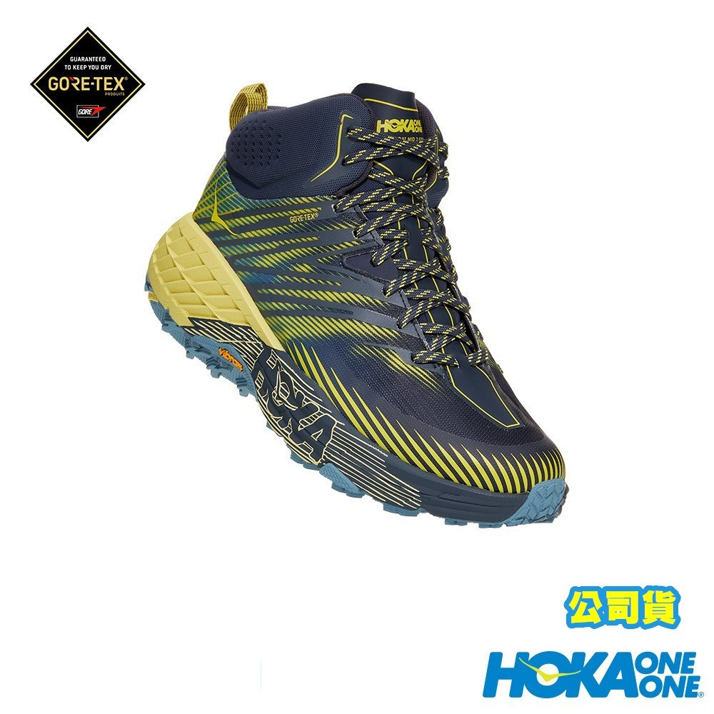 【Hoka One One】新品 男Speedgoat Mid 2 S 中筒GORE-TEX登山鞋 藏青/藍