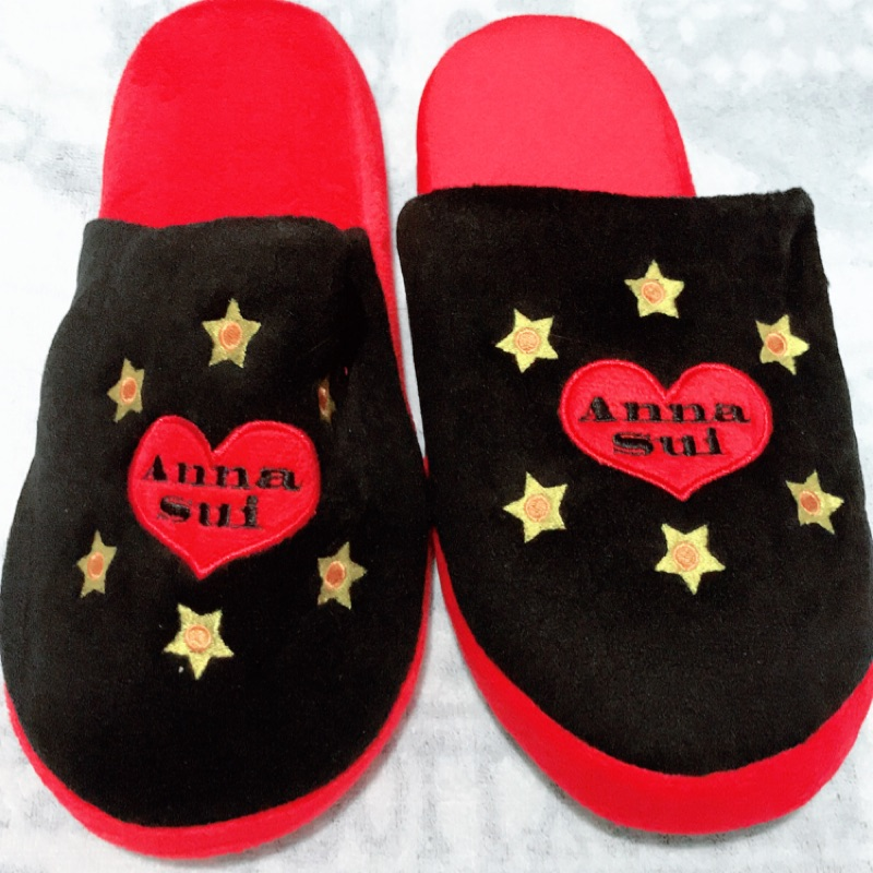 ANNA SUI安娜蘇限量魔幻星燦室內拖鞋