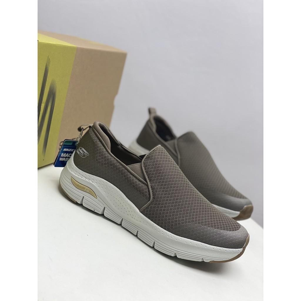Skechers斯凱奇男鞋一脚蹬懶人鞋健步鞋柔軟網布休閒運動鞋55510