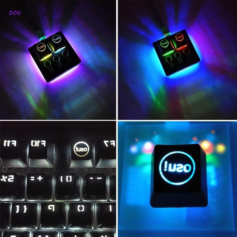 DOU BTSG ABS背光OSU鍵帽,用於Cherry鍵盤背光機械鍵盤鍵帽