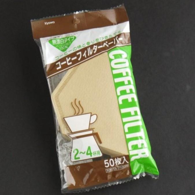 咖啡濾紙(份量有咖啡濾紙2-4杯(原色)50入) 4969757116173