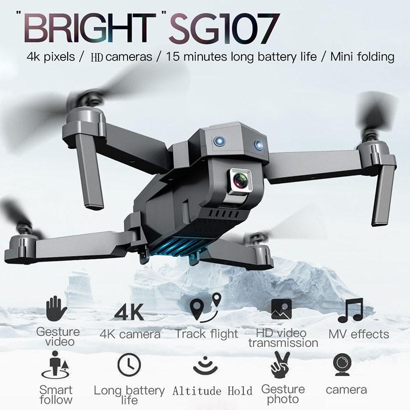 【現貨】SG107 Drone 4K高清航拍器迷你折疊飛行直升無人遙控飛機入門航模