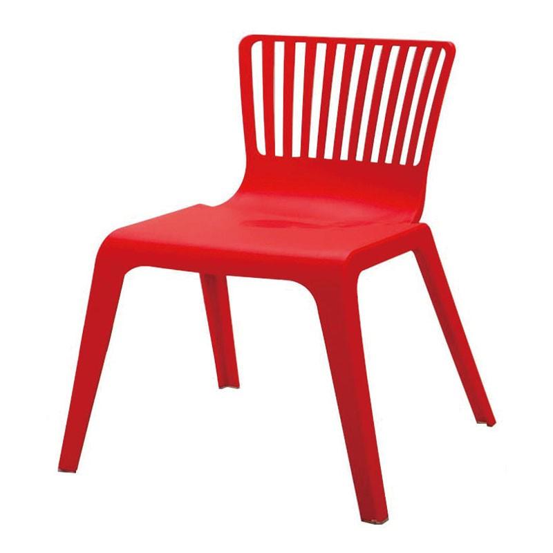 【C1963-02】PP塑鋼造型椅(662)(紅)