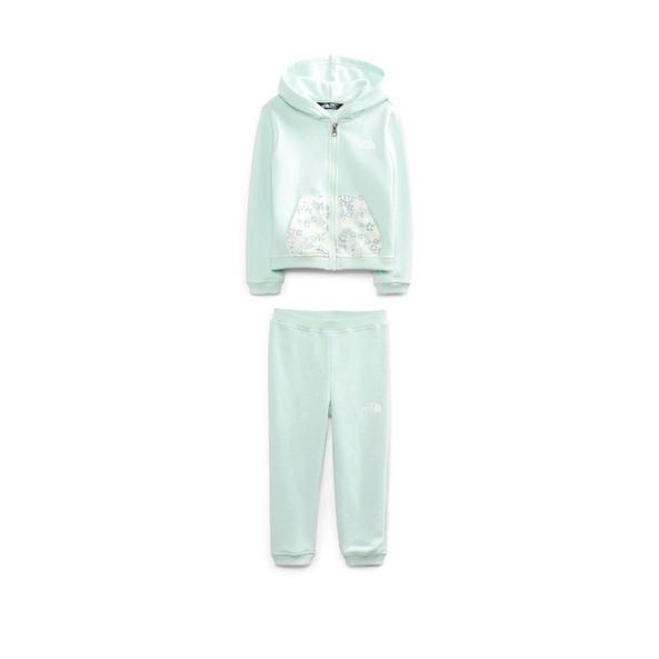 The North Face 粉綠色嬰兒長袖保暖套裝組(18個月)正貨