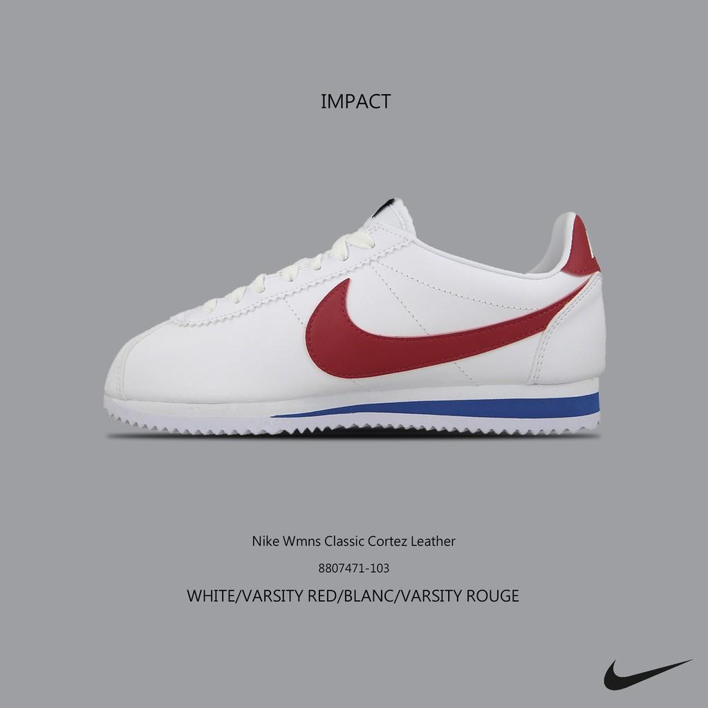 Nike Classic Cortez Leather 白紅藍 阿甘 初代 黑標 807471-103 IMPACT