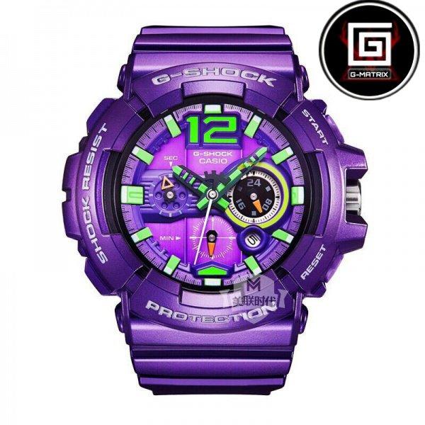 CASIO 卡西歐 G-Shock EVA絕版電光紫初號機 耐衝擊抗磁防水 手錶 GAC-110-6A