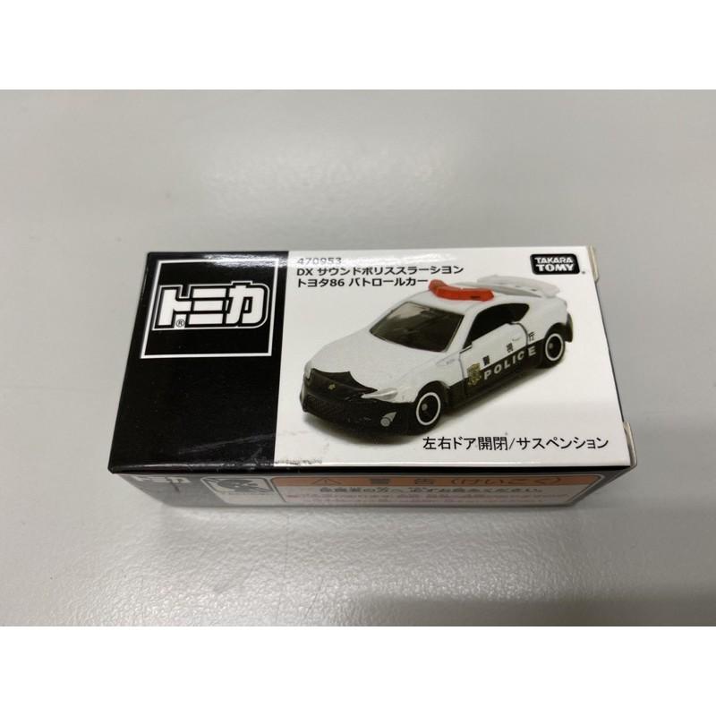 【荷包君】現貨 Tomica DX Toyota 86 警車 黑白盒