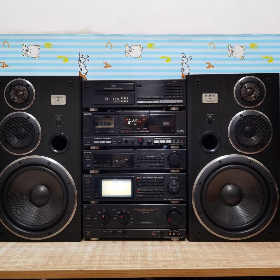 台灣【現貨】汽車音響進口喇叭,二手 日本原裝進口 索尼 LBT 905 組合音響 10寸低音喇叭 帶遙控
