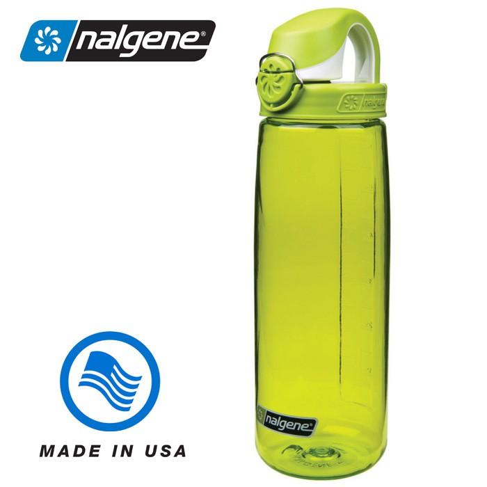 【Nalgene 美國】650ml OTF 運動水壺 水瓶 隨身水壺 無雙酚A 綠/綠白色 (5565-6024)