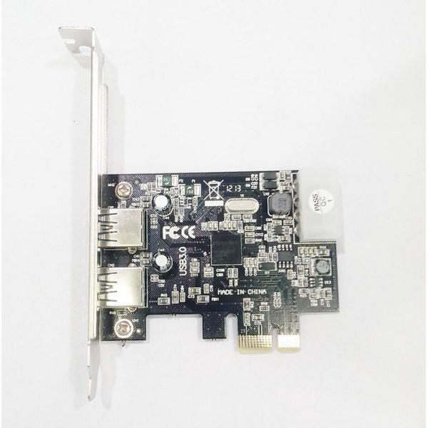 全新 USB 3.0 PCI Express 19PIN 後置 2孔 2口 擴充卡 PCIE / PC / NEC晶片