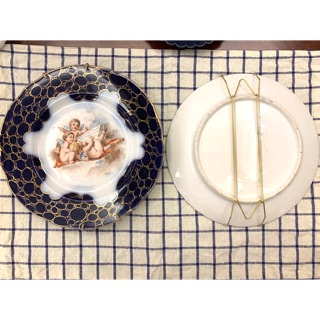 [賣掛鉤]裝飾盤 盤掛鉤 W型掛盤鉤 牆上裝飾 盤子掛牆 附塑膠管保護盤子+隱形掛鉤 8吋、9吋、10吋