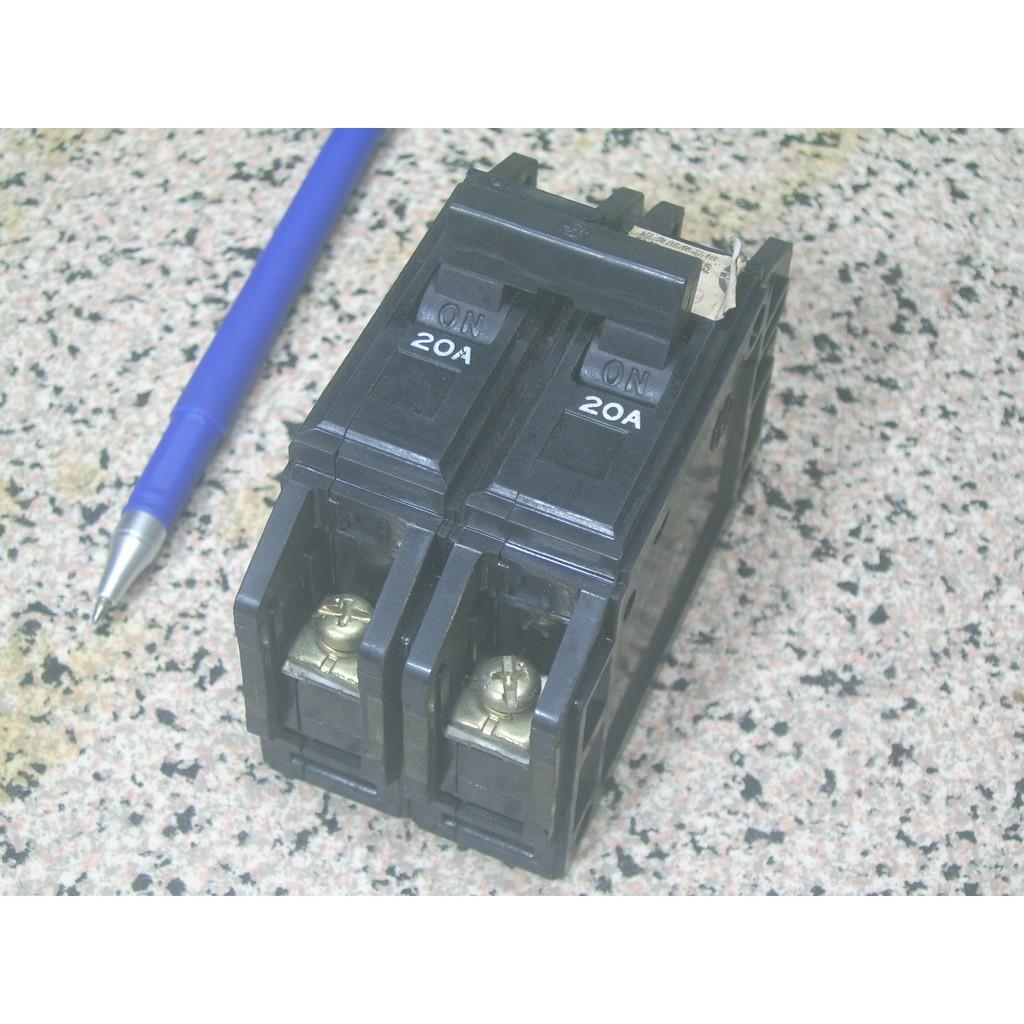 [士林電機] BH型無熔絲開關 2P 20A (二手)