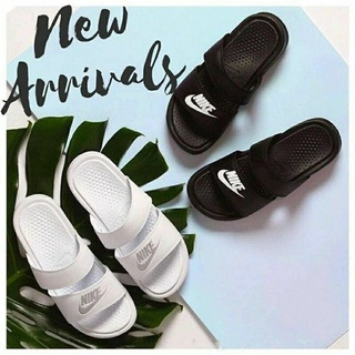 耐吉Nike Benassi Duo黑白雙綁帶忍者女子涼鞋拖鞋 夏季外出沙灘鞋819717 臺北市