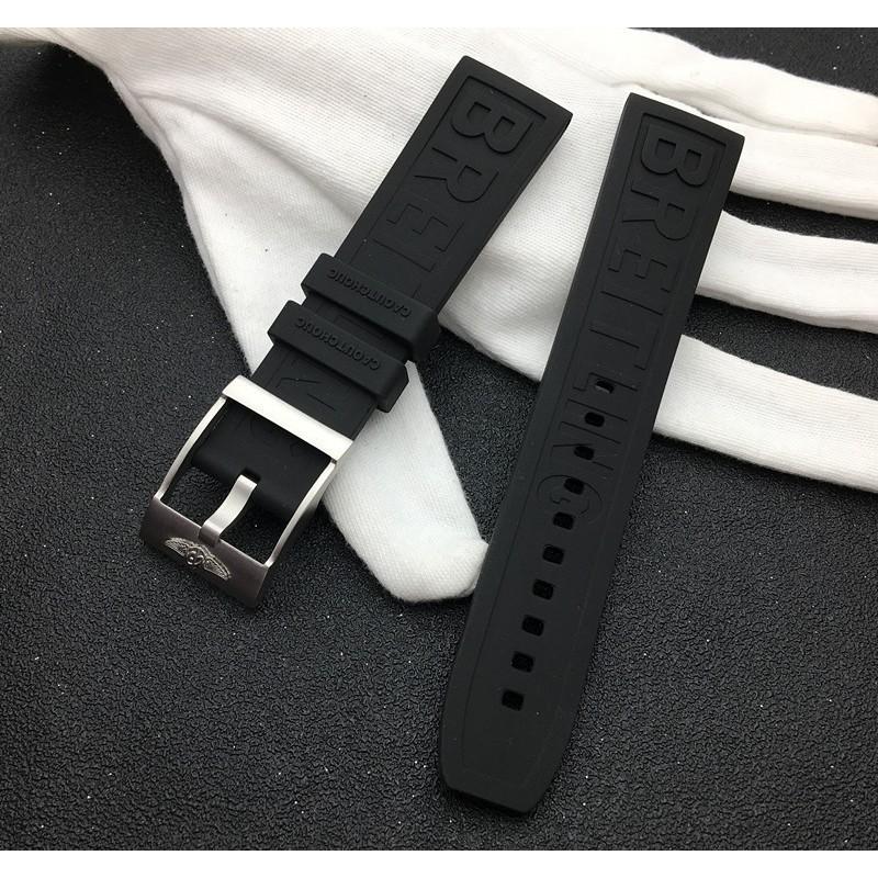 代用Breitling百年靈手表帶進口硅膠橡膠復仇者20/22mm超級海洋