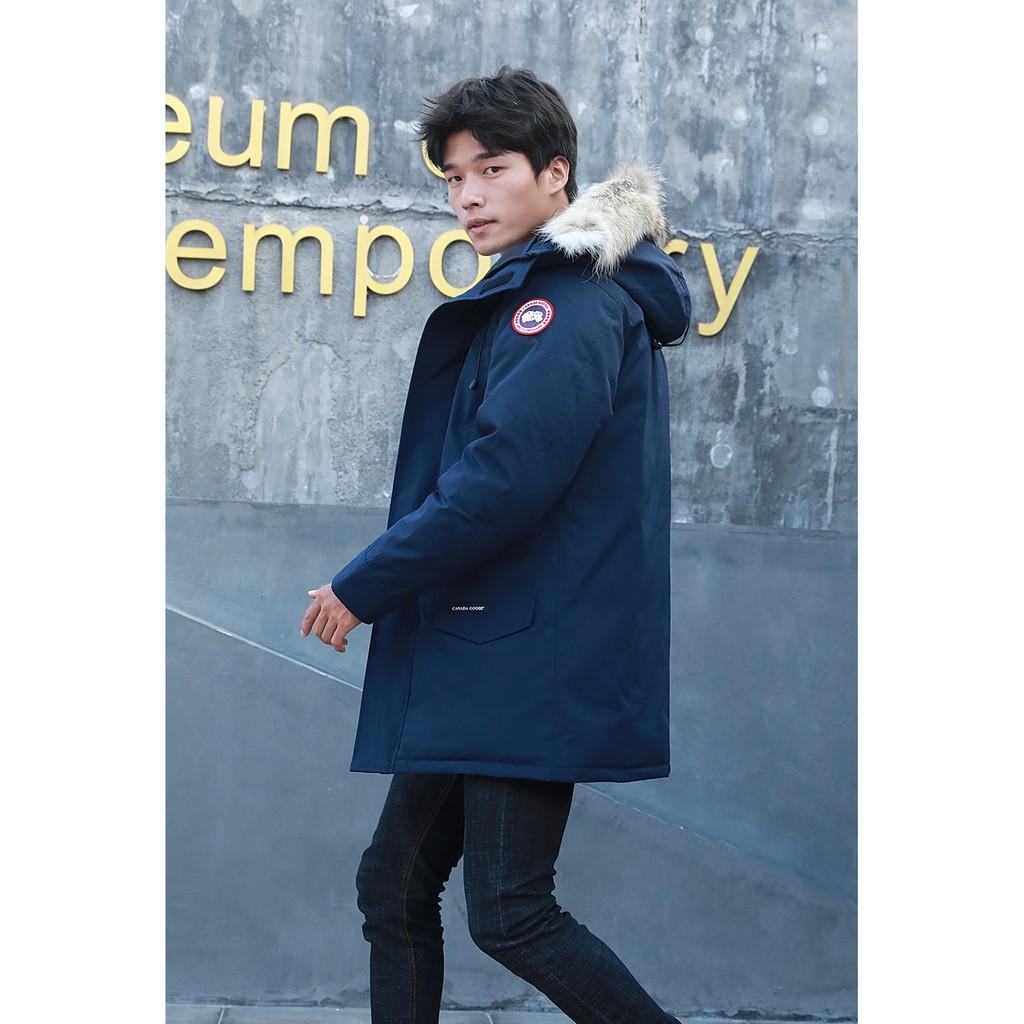 加拿大代購 CANADA GOOSE 加拿大鵝 男款修身中長版  羽絨外套 保暖外套 加厚外套 抗寒﹣40℃ 深藍色