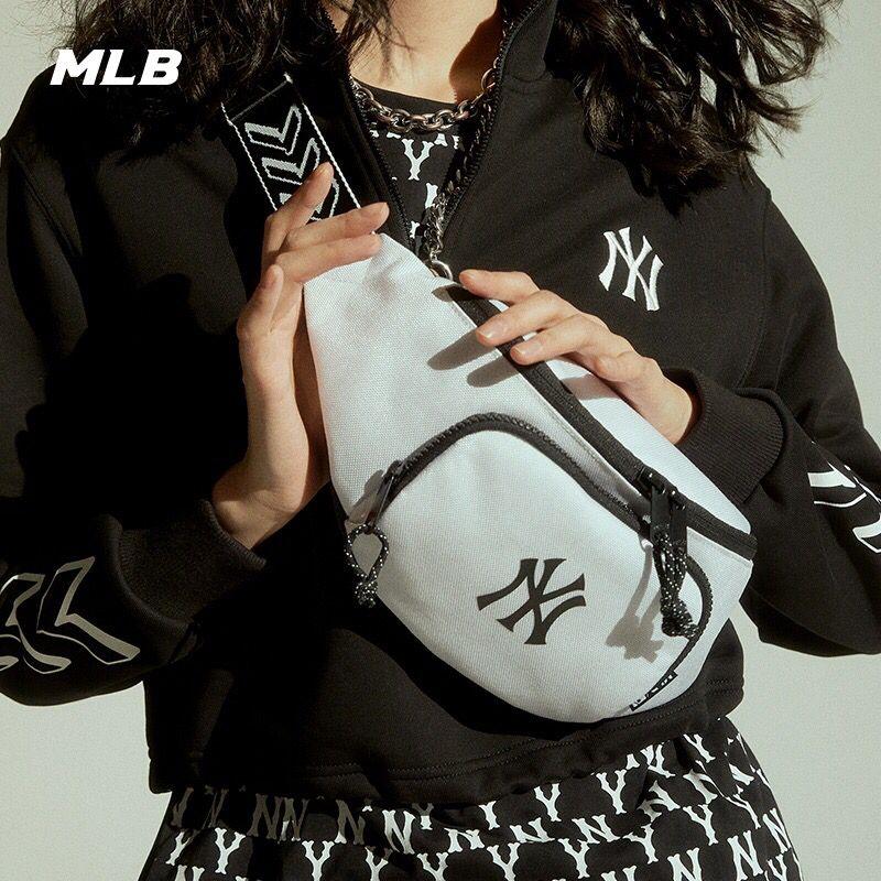 韓國潮牌 洋基隊 MLB腰包 側背包 斜背包 NY腰包 單肩包 後背包 胸包 斜挎包 帆布包 包包 NY 手機包 小方包