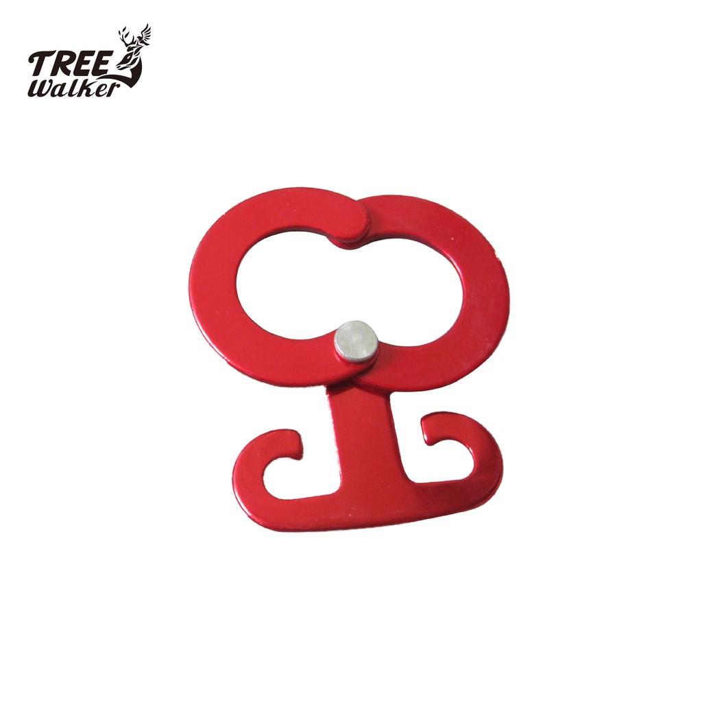 【Treewalker露遊】風型鋁合金調節扣 露營帳篷配件 營繩調整片 實用吊掛小物件掛勾(四個一組)