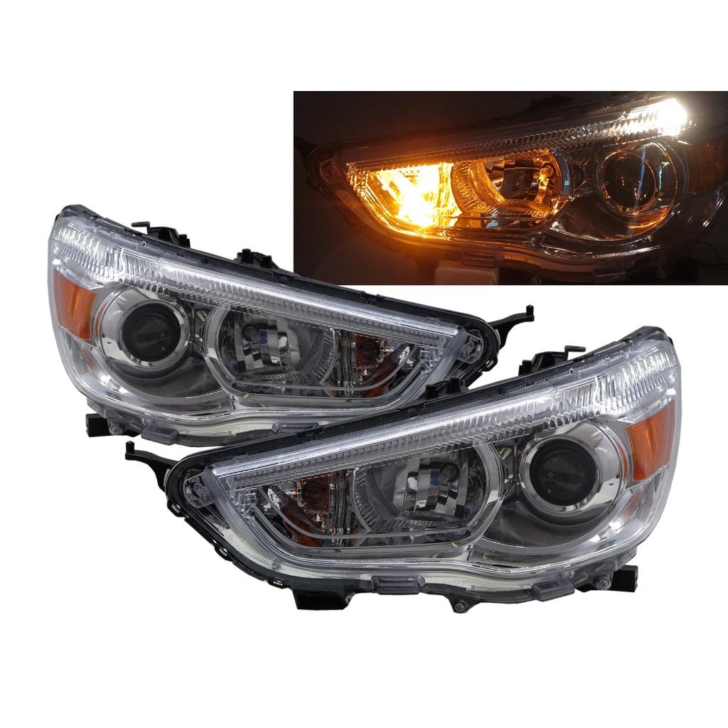 卡嗶車燈 Mitsubishi 三菱 Outlander Sport 10-ON 鹵素魚眼 V2 大燈