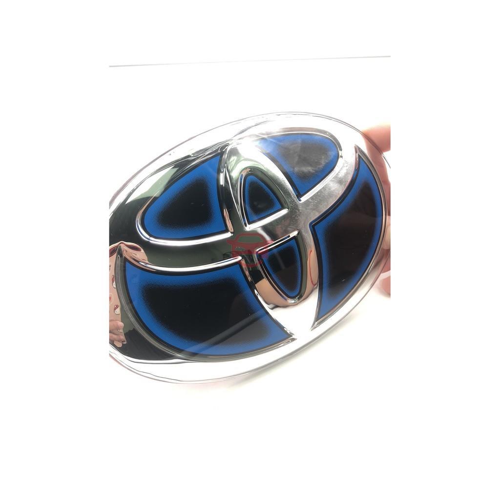【熱銷】水晶鏡面車標#改裝#HYBRID 油電車系通用車標 TOYOTA WISH Camry Rav4 ALTIS C