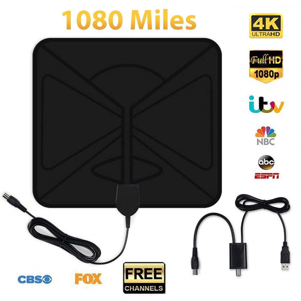 PUR UFO 1080 Mile 4K 1080P數字電視天線用於DVB-T電視HDTV Freeview電視天線天線